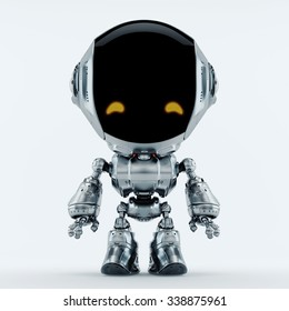 Stylish robotic character - silver colored charming fun bot