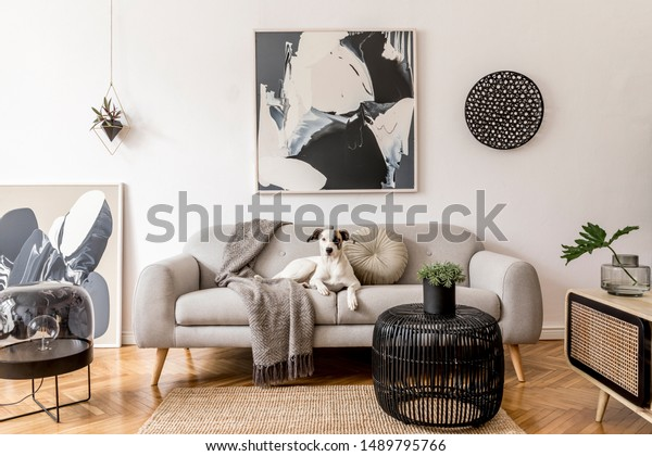 Admirable Stylish Scandinavian Living Room Interior Modern Stock Photo Beatyapartments Chair Design Images Beatyapartmentscom