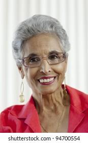 Stylish senior Black woman
