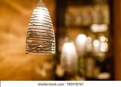 stylish stylized decorative lamp