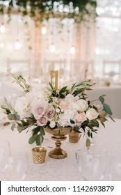 The stylish table at restaurant which is beautifully decorated for guests
