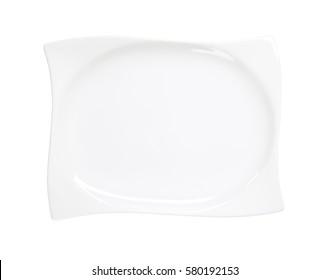 Stylish wave shaped rectangle plate