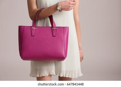 Stylish woman with bag