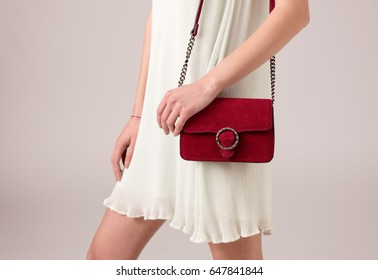 Stylish woman with bag