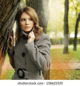 Stylish woman fashion model, fashion portrait