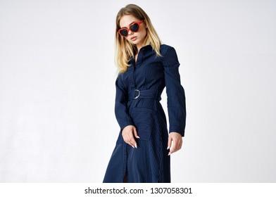 stylish woman with glasses fashion