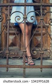 Stylish woman legs