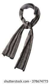 Stylish Wool-blend twill scarf with fringed edges