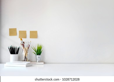 Stylish workplace with copy space, Designer mockup desk work.