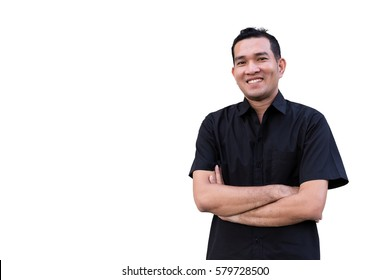 Stylish young asian man posing and looking at camera isolated on white background, copy space concept.