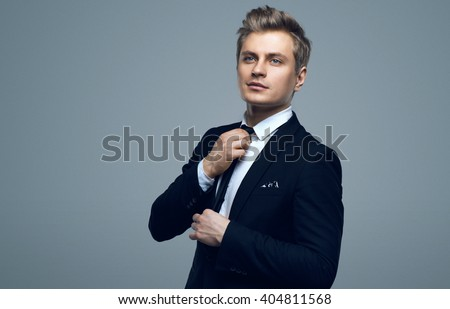Stylish young man in