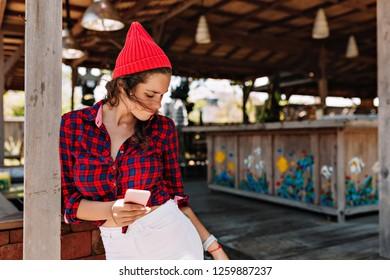 Girl Wearing Cap Images, Stock Photos & Vectors   Shutterstock