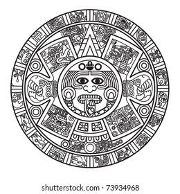 Stylized Aztec Calendar, raster version