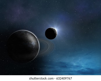 stylized background of space