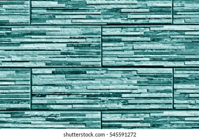 Stylized cyan brick wall texture. abstract background and textutre for design.