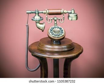 stylized old telephone