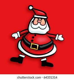 Stylized Santa Illustration
