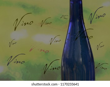 Stylized wine bottle