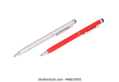 stylus pen isolated on white background