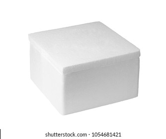 Styrofoam box isolated on white background