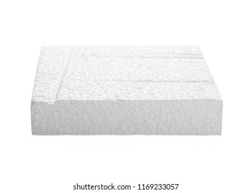 Styrofoam cube isolated on white background, with clipping path, design element
