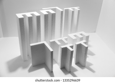 styrofoam figures white