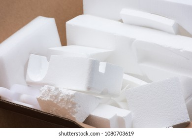Styrofoam Pieces gathered for Recycling