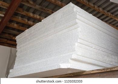 Styrofoam or polystyrene material