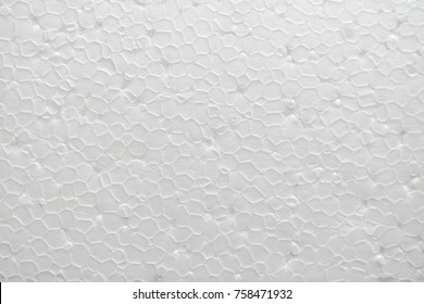 Styrofoam or polystyrene material close up view as a background.