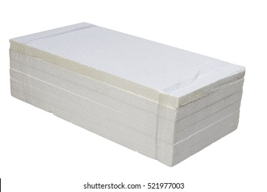 Styrofoam sheet on a white background