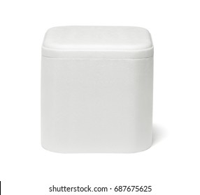 Styrofoam Storage Container on White Background