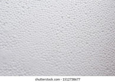 Styrofoam texture. White styrofoam close up.