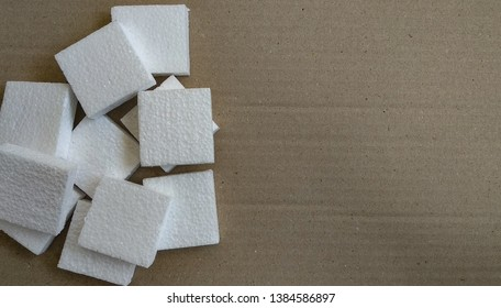the Styrofoam walpaper background, white square Styrofoam