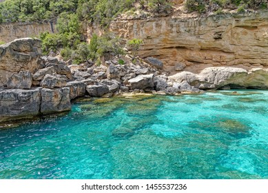 Su Achileddu Beach - Spiaggia di Su Achileddu - Sardinia Italy. Located on the beautiful coast of Baunei - east of Sardinia. Photro taken on 20th of May 2019