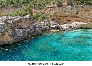 Su Achileddu Beach - Spiaggia di Su Achileddu - Sardinia Italy. Located on the beautiful coast of Baunei - east of Sardinia. Photo taken on 20th of May 2019