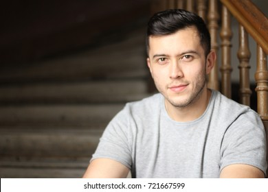 Suave male smiling portrait isolated