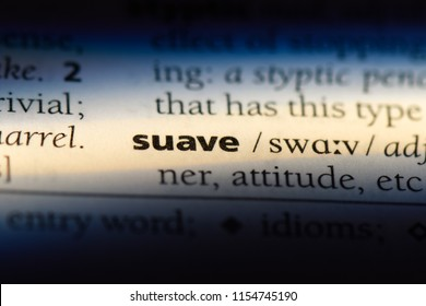 suave word in a dictionary. suave concept.