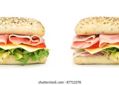 Sub sandwich baguettes