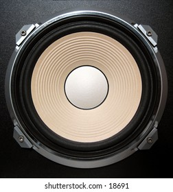 Sub woofer of an 80's speaker