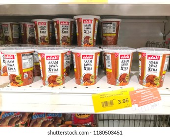 Subang Jaya, Selangor, Malaysia - September 16, 2018; Assorted packet of ADABI ingredients for cooking display for sell in the supermarket.