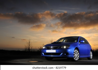 Subaru Impreza WRX at sunset