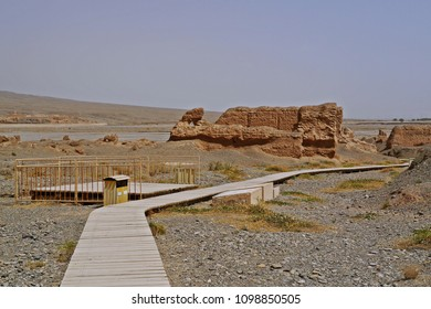 Subash Buddhist ruins on the old Silk Road in Kuqa, Xinjiang, China.