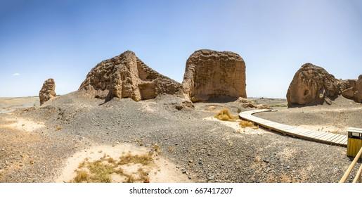 Subash Buddhist Temple ruins, Kucha, Aksu Prefecture, Xinjiang Uyghur Autonomous Region, China