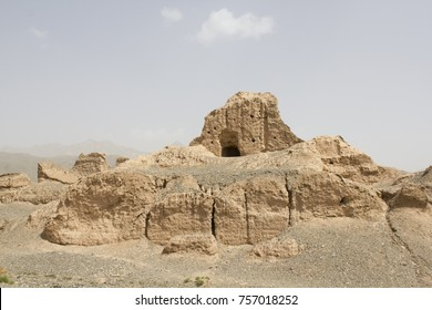 The Subashi Temple, a ruined Buddhist temple near Kucha in the Taklamakan Desert, on the ancient Silk Road, in Xinjiang Uyghur Autonomous Region, China.