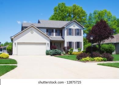 A subburan home in a Ohio neighborhood.