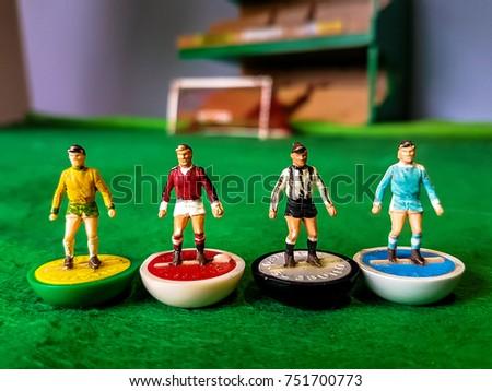 Subbuteo football figures in