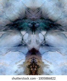 the subconscious, Tribute to Dalí, abstract symmetrical vertical photograph of the deserts of Africa from the air, aerial view, abstract expressionism, mirror effect, symmetry, kaleidoscopic