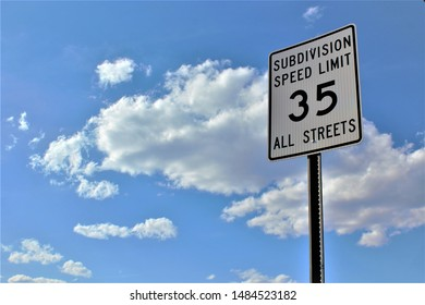 subdivision speed limit 35 all streets