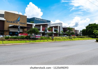 Subic, Philippines : July 1, 2018 Front of Harbor Point Mall in Subic free port zone