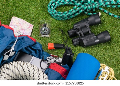 subjects for adventure tourism and recreation lie on a green lawn